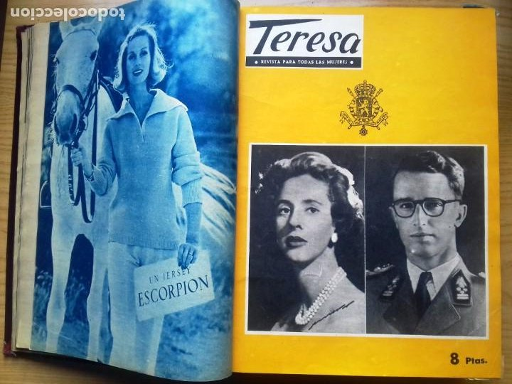 Coleccionismo de Revista Hola: HOLA 12 REVISTAS DEL Nº 839 A 860 DE 24.09.60 AL 24.02.61 +1 TERESA Nº 84 BALDUINO Y FABIOLA.TOMO - Foto 3 - 218051567