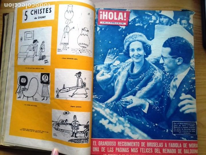 Coleccionismo de Revista Hola: HOLA 12 REVISTAS DEL Nº 839 A 860 DE 24.09.60 AL 24.02.61 +1 TERESA Nº 84 BALDUINO Y FABIOLA.TOMO - Foto 4 - 218051567