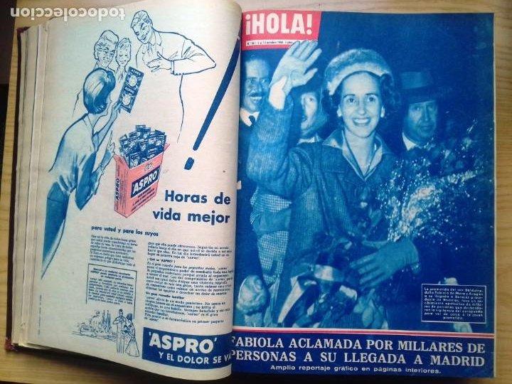 Coleccionismo de Revista Hola: HOLA 12 REVISTAS DEL Nº 839 A 860 DE 24.09.60 AL 24.02.61 +1 TERESA Nº 84 BALDUINO Y FABIOLA.TOMO - Foto 5 - 218051567