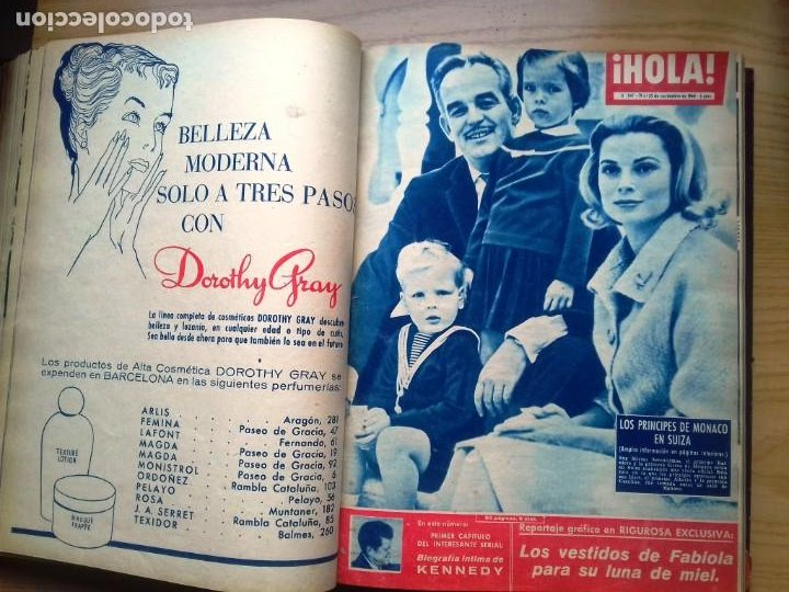 Coleccionismo de Revista Hola: HOLA 12 REVISTAS DEL Nº 839 A 860 DE 24.09.60 AL 24.02.61 +1 TERESA Nº 84 BALDUINO Y FABIOLA.TOMO - Foto 8 - 218051567