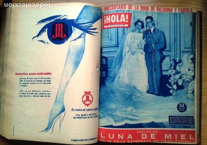 Coleccionismo de Revista Hola: HOLA 12 REVISTAS DEL Nº 839 A 860 DE 24.09.60 AL 24.02.61 +1 TERESA Nº 84 BALDUINO Y FABIOLA.TOMO - Foto 13 - 218051567