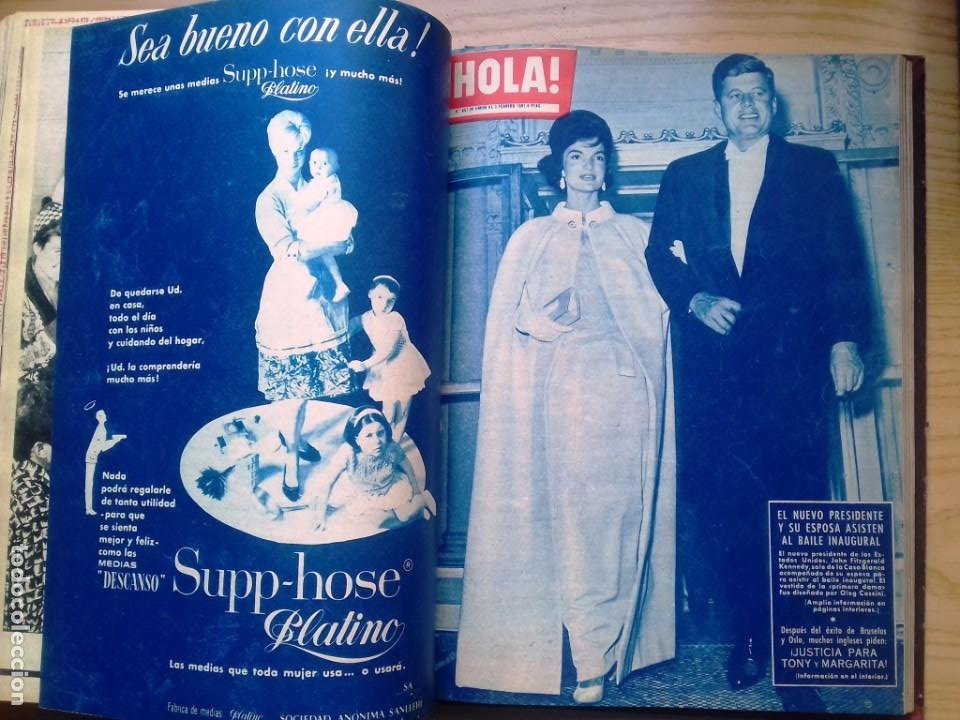 Coleccionismo de Revista Hola: HOLA 12 REVISTAS DEL Nº 839 A 860 DE 24.09.60 AL 24.02.61 +1 TERESA Nº 84 BALDUINO Y FABIOLA.TOMO - Foto 16 - 218051567