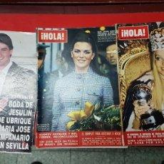 Coleccionismo de Revista Hola: LOTE ANTIGUAS REVISTAS HOLA. Lote 249297750