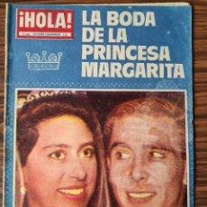 Coleccionismo de Revista Hola: HOLA . LA BODA DE LA PRINCESA MARGARITA. SUPLEMENTO EXTRAORDINARIO. Lote 218314086