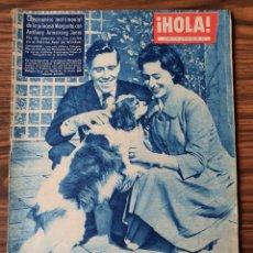 Coleccionismo de Revista Hola: REVISTA HOLA 1960 NUMERO 810 COMPROMISO MATRIMONIAL PRINCESA MARGARITA. Lote 218314901