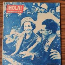 Coleccionismo de Revista Hola: HOLA Nº 840 AÑO 1960. UN GRANDIOSO RECIBIMIENTO DE BRUSELAS A FABIOLA DE MORA. Lote 218315708
