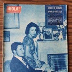 Coleccionismo de Revista Hola: HOLA 899. 1961. BODA PRINCIPE MULEY ABDALLAH DE MARRUECOS, MISS MUNDO 1961, INCENDIO EN HOLLYWOOD. Lote 218316711