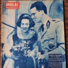 Coleccionismo de Revista Hola: HOLA AÑO 1962 - Nº 909 - BODA SIMEON BULGARIA Y MARGARITA GOMEZ ACEBO- LOS WINDSOR EN ESPAÑA. Lote 218316862