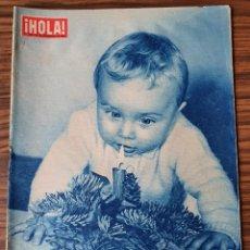 Coleccionismo de Revista Hola: HOLA NÚM. 696 DICIEMBRE 1957 - FELIZ AÑO NUEVO. Lote 218317030