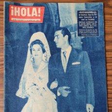 Coleccionismo de Revista Hola: HOLA. Nº 805, AÑO 1960. GIOVANNELLA, MATRIMONIO CON EL DOCTOR ENRIQUE JOSE ALVAREZ. Lote 218318552
