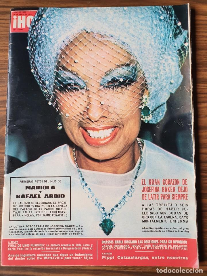 HOLA Nº 1600 .- ABRIL DE 1975 - JOSEFINA BAKER EN PORTADA (Coleccionismo - Revistas y Periódicos Modernos (a partir de 1.940) - Revista Hola)