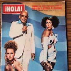 Coleccionismo de Revista Hola: REVISTA HOLA Nº 1613 - JULIO 1975 TRIUNFO TELLY SAVALAS EN EL FESTIVAL DE BENIDORM JUNTO A SU BALLET. Lote 218402486