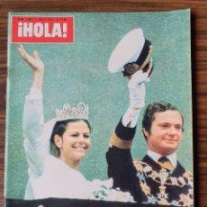 Coleccionismo de Revista Hola: REVISTA HOLA. Nº 1662. JULIO 1976. BODA CARLOS GUSTAVO DE SUECIA.. Lote 218404726