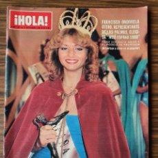 Coleccionismo de Revista Hola: REVISTA HOLA Nº 1881 AÑO 1980. FRANCISCA ONDIVIELA OTERO MISS ESPAÑA. GIANNINA FACIO.. Lote 218406077