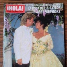 Coleccionismo de Revista Hola: REVISTA HOLA Nº 2462 OCTUBRE 1991. BODA LIZ TAYLOR Y LARRY FORTENSKY. ISABEL SARTORIUS CAMILO SESTO. Lote 218412248