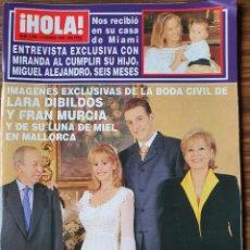 Coleccionismo de Revista Hola: REVISTA HOLA Nº 2796 MARZO 1998. BODA LARA DIBILDOS Y FRAN MURCIA. MISS ESP.MARIA JOSE BESORA. Lote 218417810