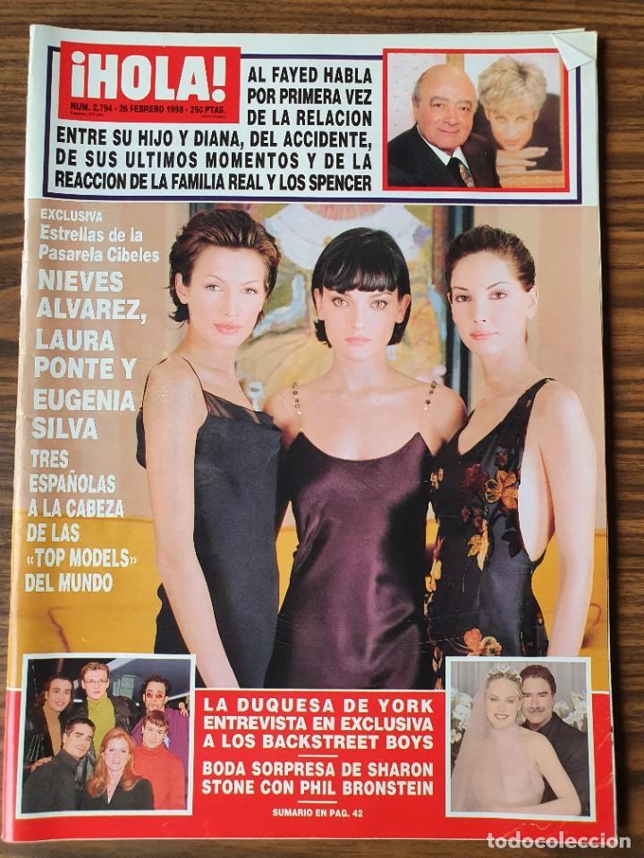 REVISTA HOLA Nº 2794 FEBRERO 1998. NIEVES ALVAREZ, LAURA PONTE Y EUGENIA SILVA-SHARON STONE. (Coleccionismo - Revistas y Periódicos Modernos (a partir de 1.940) - Revista Hola)