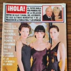 Coleccionismo de Revista Hola: REVISTA HOLA Nº 2794 FEBRERO 1998. NIEVES ALVAREZ, LAURA PONTE Y EUGENIA SILVA-SHARON STONE.. Lote 218419768