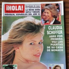 Coleccionismo de Revista Hola: REVISTA HOLA Nº 2579 ENERO 1994. CLAUDIA SCHIFFER. REINA SOFIA E INDURAIN. REINA SILVIA DE SUECIA. Lote 218423796