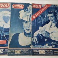 Coleccionismo de Revista Hola: LOTE DE 3 REVISTAS HOLA DE 1950 (2) Y 1951 (1). Lote 218426267