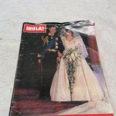 Coleccionismo de Revista Hola: HOLA, BODA CARLOS Y DIANA. Lote 218430703