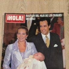 Coleccionismo de Revista Hola: REVISTA HOLA «BAUTIZO HIJO INFANTA ELENA». Lote 219430532