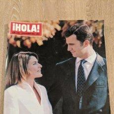 Coleccionismo de Revista Hola: REVISTA HOLA «PETICIÓN DE MANO LETICIA ORTIZ». Lote 219430882