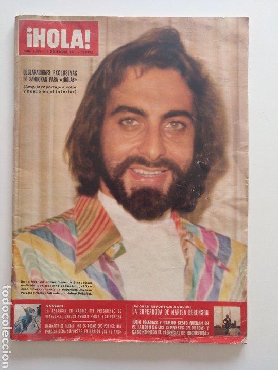 HOLA NUM 1685 11 DICIEMBRE 1976. SANDOKAN,JULIO IGLESIAS , CAMILO.SESTO (Coleccionismo - Revistas y Periódicos Modernos (a partir de 1.940) - Revista Hola)