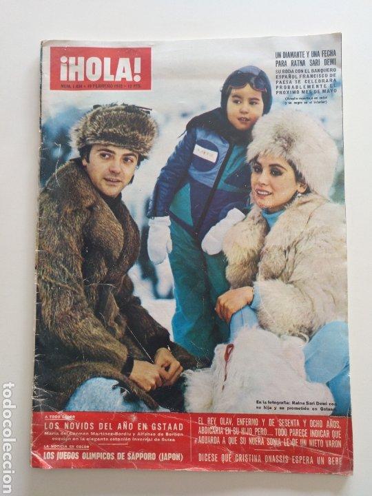 HOLA NUM 1434 19 FEBRERO 1972 (Coleccionismo - Revistas y Periódicos Modernos (a partir de 1.940) - Revista Hola)