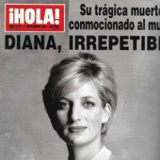 Collectionnisme de Magazine Hola: REVISTA HOLA! NUM 2770 - 11 SEPTIEMBRE 1997 - MUERTE DE DIANA DE GALES - LADY DI. Lote 220740317