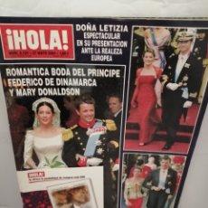 Coleccionismo de Revista Hola: REVISTA HOLA, NUM. 3121, 27 MAYO 2004: DOÑA LETICIA EN SU PRESENTACIÓN ANTE LA REALEZA EUROPEA. Lote 221368560