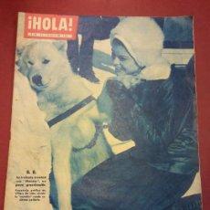 Coleccionismo de Revista Hola: REVISTA HOLA. Nº 860. FEBRERO 1961. NUBES EN EL TERCER MATRIMONIO DEL SHA?. Lote 221570958