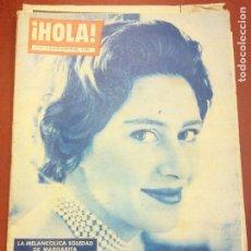 Coleccionismo de Revista Hola: REVISTA HOLA. Nº 782. AGOSTO 1959. LA MELANCOLICA SOLEDAD DE MARGARITA. Lote 221571797