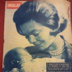 Coleccionismo de Revista Hola: REVISTA HOLA. Nº 935. AGOSTO 1962. EL DUQUE DE KENT SE INCORPORARA A SU REGIMIENTO EN HONG KONG. Lote 221572886