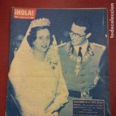 Coleccionismo de Revista Hola: REVISTA HOLA. Nº 879. JULIO 1961. PESADUMBRE EN LA CORTE BELGA OFICIAL. Lote 221573331