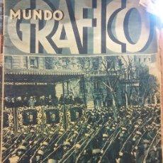 Coleccionismo de Revista Hola: REVISTA MUNDO GRAFICO. EL TERCER ANIVERSARIO DE LA REPUBLICA. . MIS CATALUÑA 1934. Lote 221578383