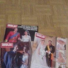 Coleccionismo de Revista Hola: REVISTA HOLA 3 BODAS GUILLERMO DE INGLATERRA, PRÍNCIPES LUXEMBURGO Y DUQUE DE FERIA. Lote 221921238