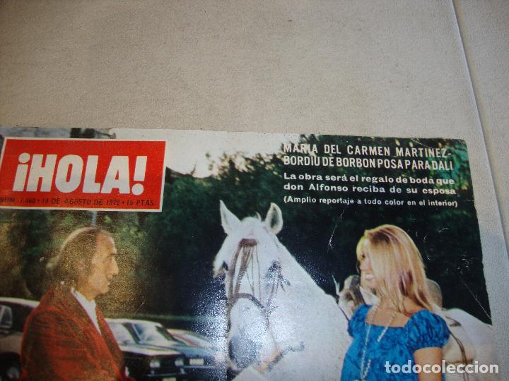 Coleccionismo de Revista Hola: REVISTA HOLA CARMEN MARTINEZ BORDIU POSA PARA DALI - Foto 2 - 222048042
