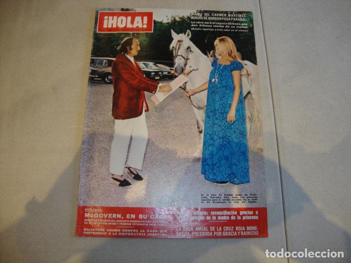 REVISTA HOLA CARMEN MARTINEZ BORDIU POSA PARA DALI (Coleccionismo - Revistas y Periódicos Modernos (a partir de 1.940) - Revista Hola)