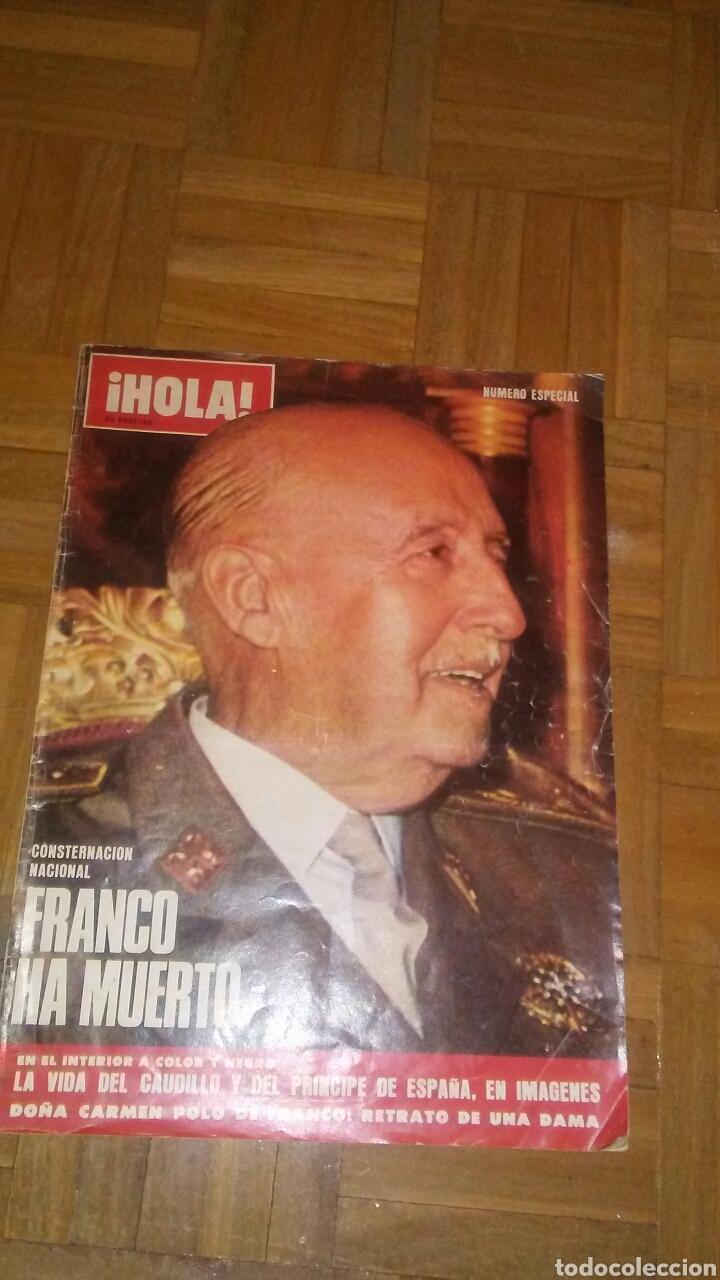 REVISTA HOLA N°ESPECIAS FRANCO HA MUERTO.(VER FOTOS Y LEER DESCRIPCIÓN) (Coleccionismo - Revistas y Periódicos Modernos (a partir de 1.940) - Revista Hola)