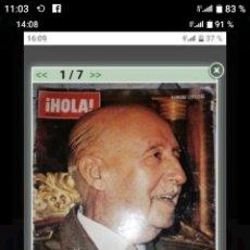 Coleccionismo de Revista Hola: REVISTA HOLA ESPECIAL MUERTE DE FRANCO. Lote 222105331