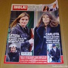 Coleccionismo de Revista Hola: HOLA NÚM 3.626. ENERO 2014. DOÑA LETIZIA, SHAKIRA Y PIQUÉ, ANDREA Y TATIANA.... Lote 222189002