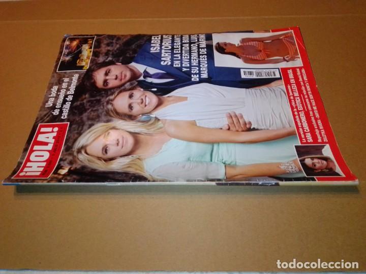 Coleccionismo de Revista Hola: Hola núm 3.596. Julio 2013. Isabel Sartorius, Sara Carbonero, María Gabriela de Saboya... - Foto 11 - 222189415