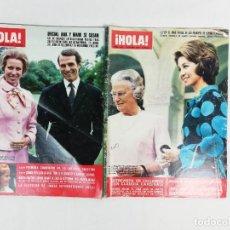 Collectionnisme de Magazine Hola: LOTE DE REVISTAS HOLA -AÑOS 1972-1973. Lote 222324607