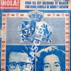 Coleccionismo de Revista Hola: ANTIGÜA REVISTA HOLA - Nº 851 D E 1960 - BODA DEL REY BALDUINO DE BELGICA CON FABIOLA DE MORA Y ARAG. Lote 222475155