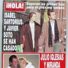 Collezionismo di Rivista Hola: HOLA - Nº 2741 - 20 FEBRERO 1997 - REVISTA. Lote 222631172