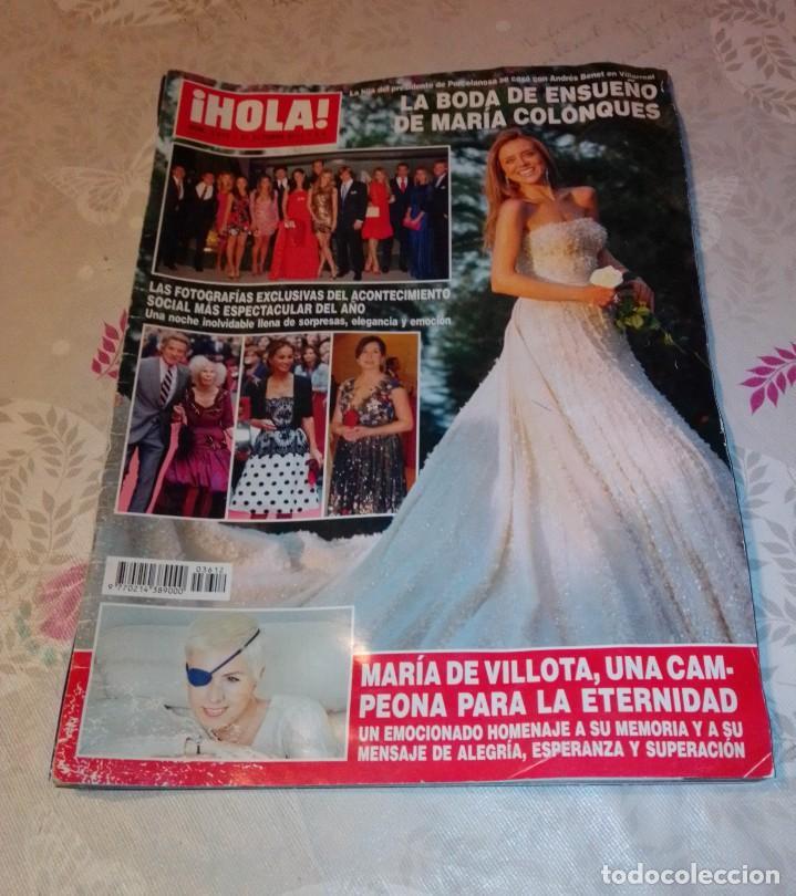 REVISTA HOLA NÚM 3.612 - OCTUBRE 2013. MARÍA COLONQUES. (Coleccionismo - Revistas y Periódicos Modernos (a partir de 1.940) - Revista Hola)