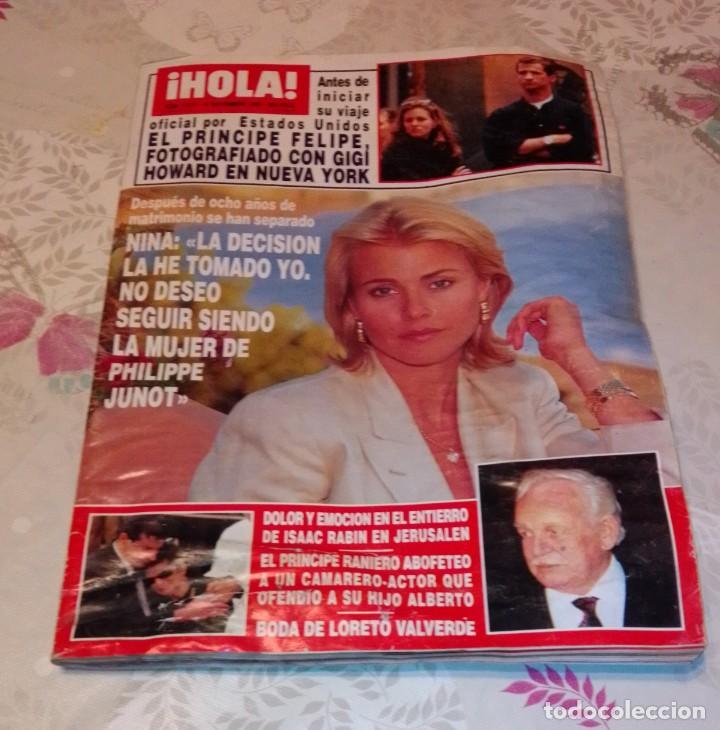 REVISTA HOLA NÚM 2.675 - NOVIEMBRE 1995. PRÍNCIPE FELIPE, NINA (Coleccionismo - Revistas y Periódicos Modernos (a partir de 1.940) - Revista Hola)
