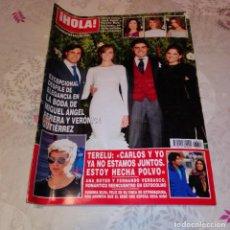 Coleccionismo de Revista Hola: REVISTA HOLA NÚM 3.613 - OCTUBRE 2013. MIGUEL ÁNGEL PERERA.. Lote 224563573