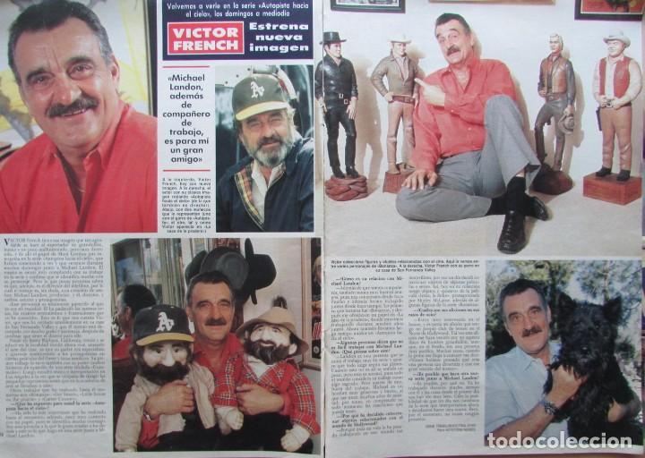 RECORTE REVISTA HOLA Nº 2331 1989 VICTOR FRENCH 2 PGS (Coleccionismo - Revistas y Periódicos Modernos (a partir de 1.940) - Revista Hola)